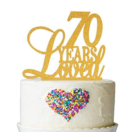 Amazon 70 Years Loved Cake Topper