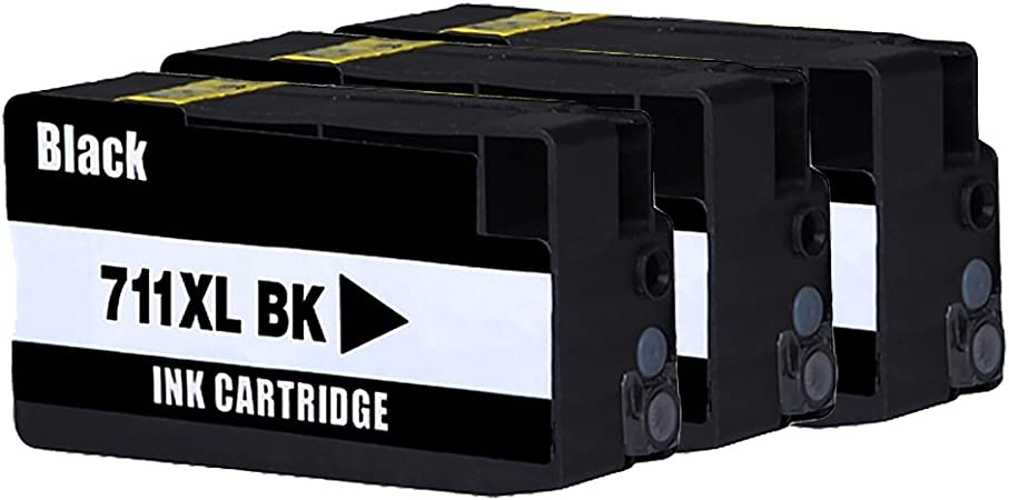 bosumon cartucho de tinta compatible para HP 711 711 x l sustituir para HP DesignJet T120 serie HP Designjet T520, Afficher el nivel de tinta (3 negro): Amazon.es: Oficina y papelería