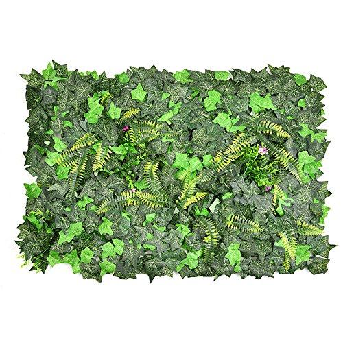 künstliche Efeu Blatt Hecke faux grün Privatsphäre Zaun Bildschirm gefälschte Grün Platten Kulissen Wand Dekor Kunststoff Lan