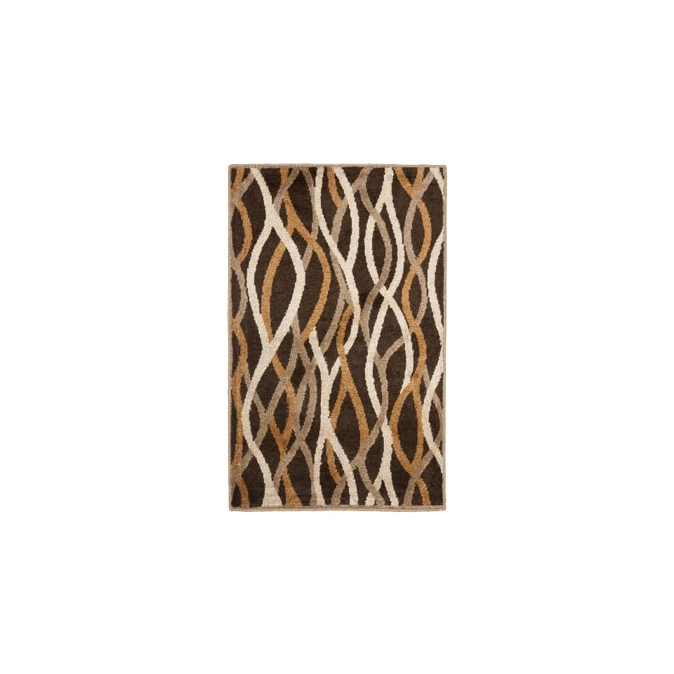 Safavieh Kashmir Collection KAS117A Brown and Multi Polyester Area Rug (3 x 5)
