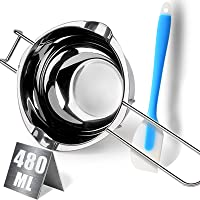 480ML Double Boiler Chocolate Melting Pot,304 Stainless Steel Candle Making Kit, Melting Pot with Silicone Spatula for…