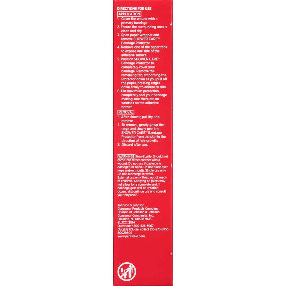 Johnson and Johnson Band-Aid Brand of First Aid Products Shower Care Medium Bandage Protector 4 count -- 24 per case.