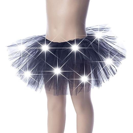 iSunday Niña LED Baile Falda Luminoso Fiesta Navidad Etapa Capas ...
