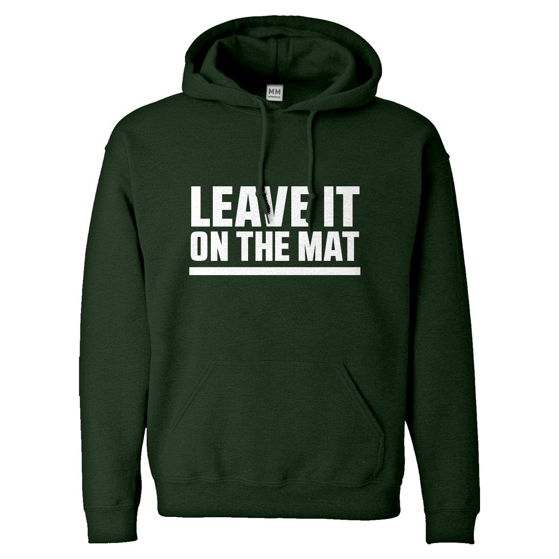 Indica Plateau Hoodie Leave it on The Mat Medium Forest Green Hooded Sweatshirt