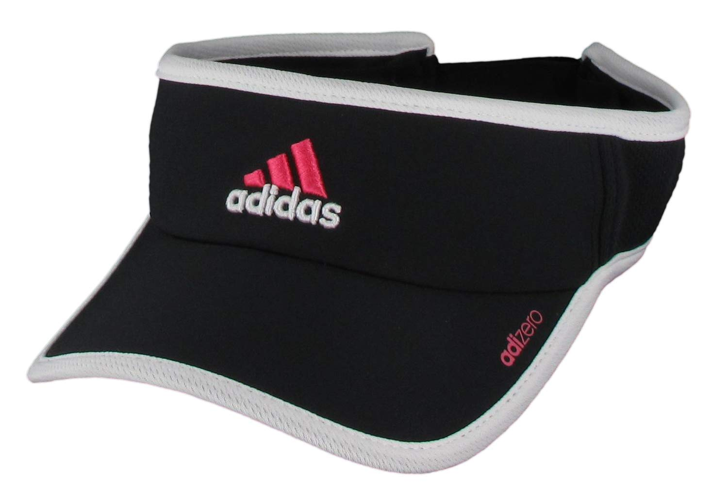adidas Women's Adizero II Visor, Black/Shock Pink/White, ONE SIZE by adidas