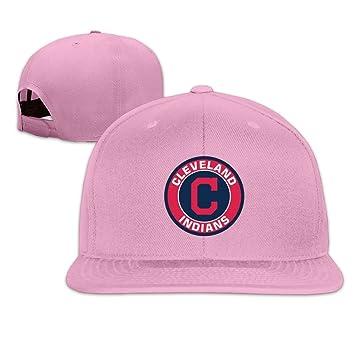 100% authentic 0ecfd 224eb XCarmen Unisex Cleveland Indians Logo Baseball Caps Pink ...