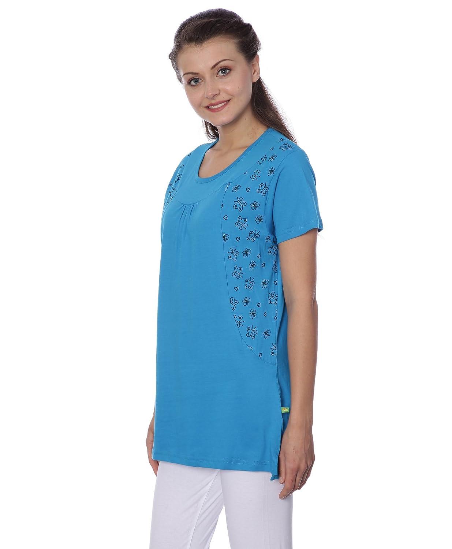 b7ec3fb2fc3 GOLDSTROMS Women's Round Neck Maternity/Feeding/Nursing Tshirt/Top/Tee:  Amazon.in: Clothing & Accessories