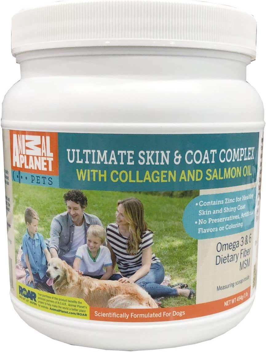 Animal Planet Ultimate Skin and Coat Complex with Collagen Pet Supplement with Omega 3,6 and zinc