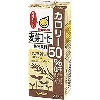 マルサン 豆乳飲料麦芽コーヒー カロリー50%オフ 200ml×24本