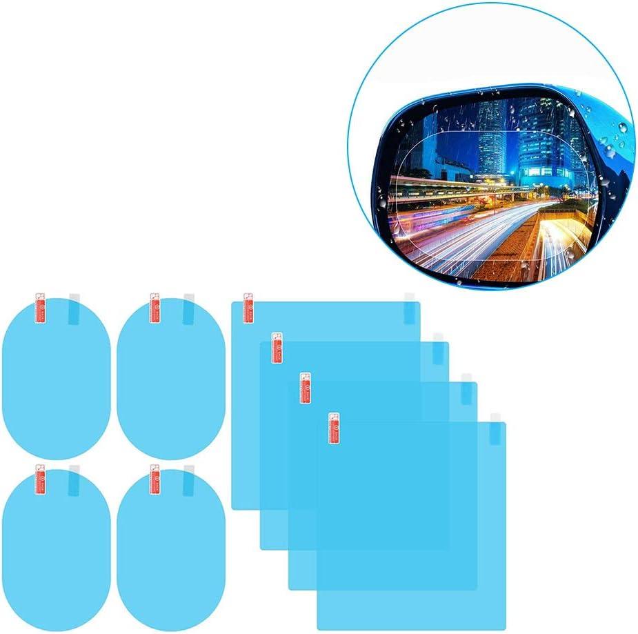 Demino 8 PC//Satz-Spiegel-Film-T/ür-Seitenspiegel wasserdicht Anti-Fog-PET mit R/ückspiegel Antibeschlagfolie R/ückspiegel Filmaut Montagewerkzeug