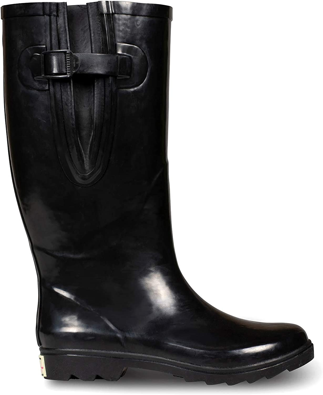 EXTRA TOUCH Wide Calf Rubber Rain Boots