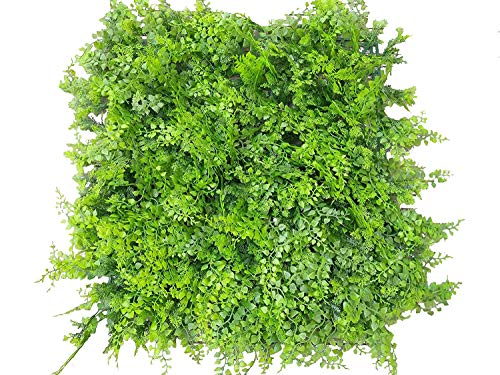 Artificial Topiary Hedge Plant Privacy Fence Screen Greenery Panels for Both Outdoor or Indoor, garden or backyard decorations (20x20 inch artificalHedge-Style B, 1PC Sample)