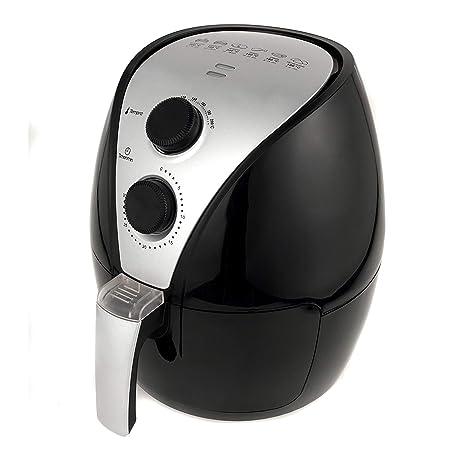 MIAO@LONG Eléctrico Freidora de Aire con Freidora Desmontable Fácil de Limpiar con Control de Temperatura Inteligente & minutero para la Comida frita ...