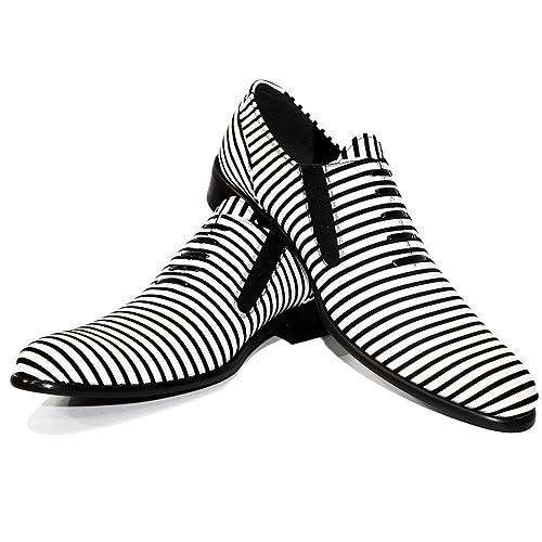 Modello Zebri - 40 - Cuero Italiano Hecho A Mano Hombre Piel Blanco Mocasines y Slip-Ons Loafers - Cuero Cuero Suave - Ponerse: Amazon.es: Zapatos y ...