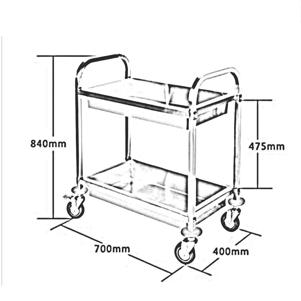 Amazon.com: Trolley Chunlan - Carrito de cocina (2 estantes ...