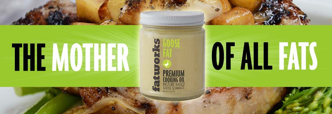 Fatworks, Traditional Goose Fat, Pasture Raised on US Family Farm, USDA, 7.5 oz. by Fatworks (Image #1)
