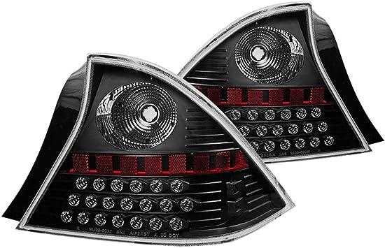 Polycarbonate Resin Black//Clear Braking Taillight Tail Lamp Replacement/by IKON MOTORSPORTS LED Brake Lights Fits 2001-2003 Honda Civic 2002 Winjet WJ20-0032-04
