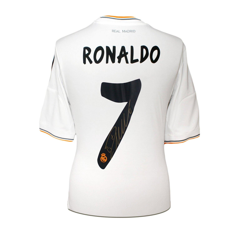 size 40 54274 b7e21 Cristiano Ronaldo Signed Real Madrid Soccer Jersey 2013 at ...