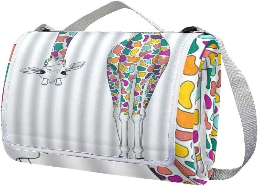 XINGAKA Coperta da Picnic Tappetino Campeggio,Stampa Artistica di Chitarra Colorata,Giardino Spiaggia Impermeabile Anti Sabbia 12