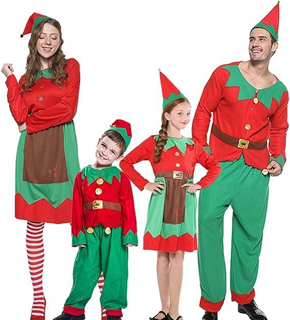 Malaysabah Traje de Navidad Santa Helper Niños/Adultos Traje de ...