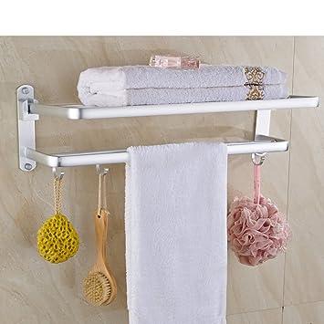 WXT YUE carril de toalla aluminio espacio/Estante del baño del cuarto de baño/Estante de toalla doblado-A: Amazon.es: Bricolaje y herramientas