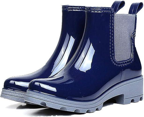 Imperméables Vernis Caoutchouc Antidérapant OUTDOOWALS Chaussures Bottes Boots Bottines Chelsea pour Femmes et de Pluie bgYyvf76