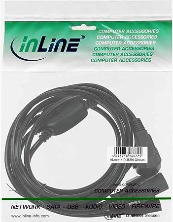 Inline 16657g Netz Y Kabel 1x Schutzkontaktstecker Zu Computer Zubehör
