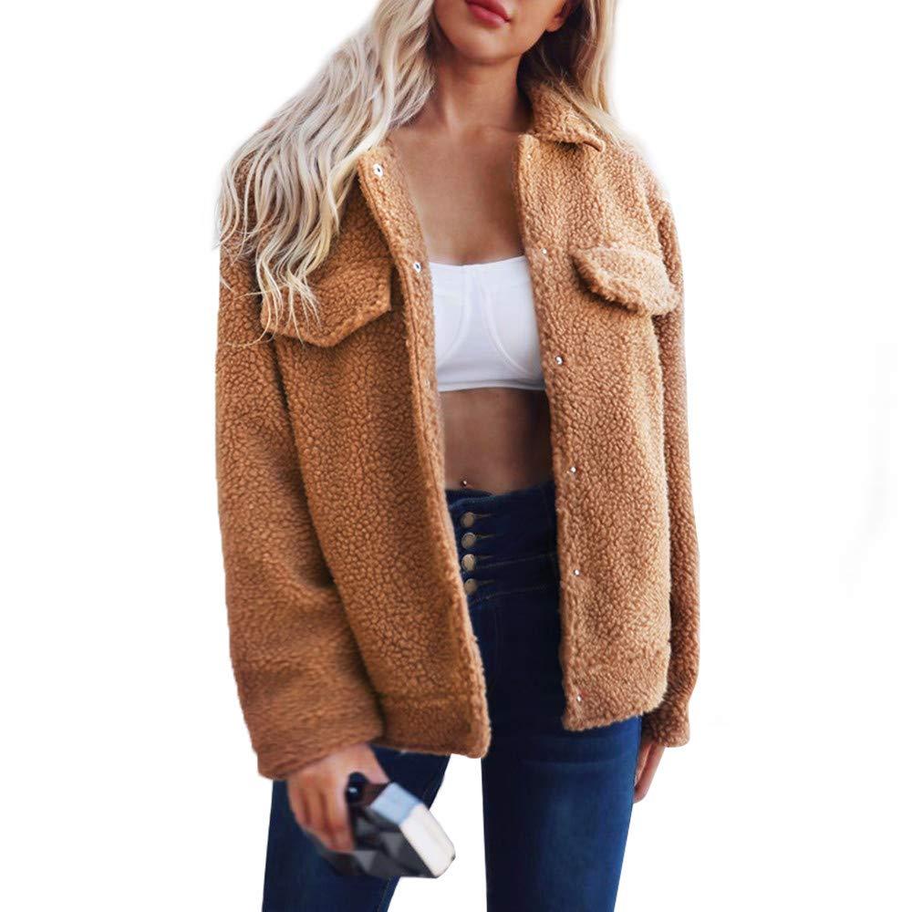 Hemlock Women Winter Parka Outerwear Sweater Turndown Button Cardigan Coat Blazer Jackets Keep Warm Overcoats