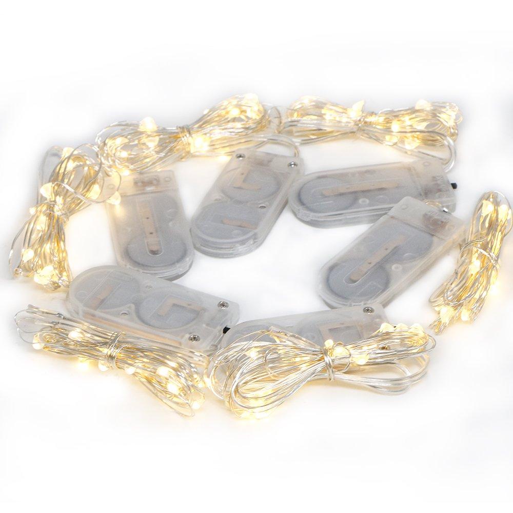 Micro LED beleuchtet Fee Schnur, Kany 6pcs Batterie betrieben ...
