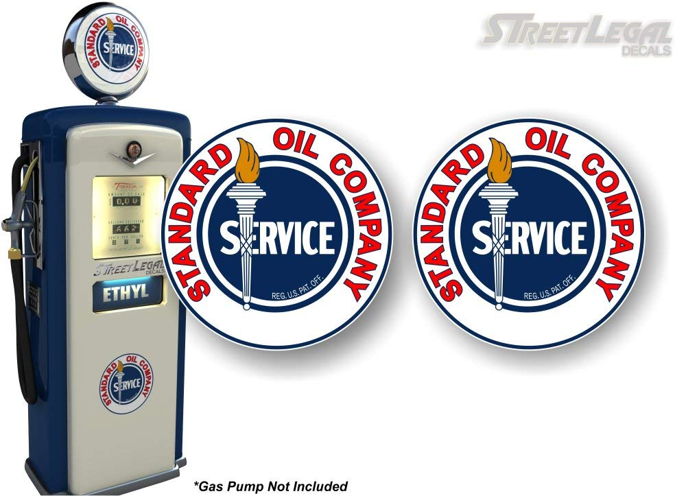 Vintage Style Signal Oil And Gas Gasoline Pump Decal  The Best or 100/% Refund