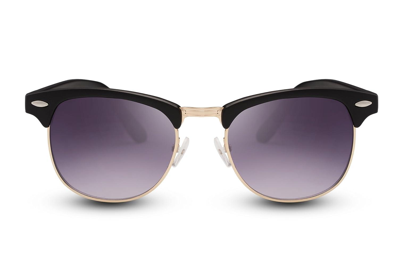 Cheapass Sonnenbrille Clubmaster Schwarz UV400 Gradient Gläser Grau ...