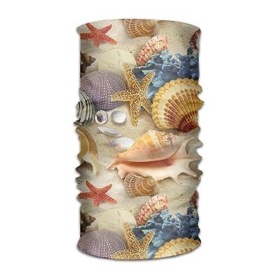 DFH Starfish Sea Shells Headband Mask Multi-use Sports Hair Band,Wide Headscarves,Bandanas Tube,Seamless Head Wrap,Sweatband Turban For Fitness,Running,Cycling,Yoga