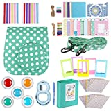 Neewer Blue 34-in-1 Accessories Kit for Fujifilm Instax Mini 9 8+ 8 8s: Case Album  Selfie Lens  Colored Filter  Table Frame  Wall Hanging Frame  Border Sticker Corner Sticker Decorative Sticker Pen