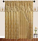 Twin brothers Jaquard Window Curtain-Gold