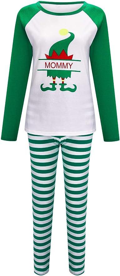Navidad Pijamas Familiares Moda Impresión Blusas Casual ...