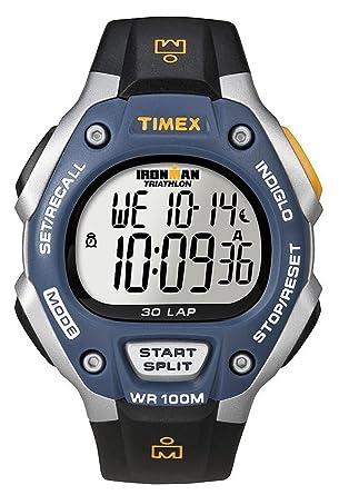 Timex -T5E931SU - IRONMAN Running 30 LAP- Montre Sport Homme antichoc - Bracelet Résine