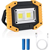 flintronic Foco LED Recargable COB Luz de Trabajo