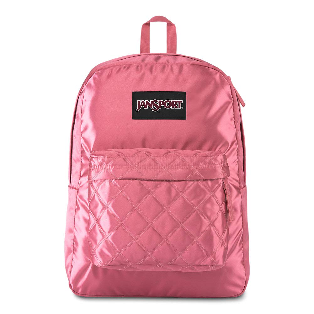 JanSport Super FX Backpack - Trendy School Pack With A Unique Textured Surface | STL Rose Diamond Quilting by JanSport