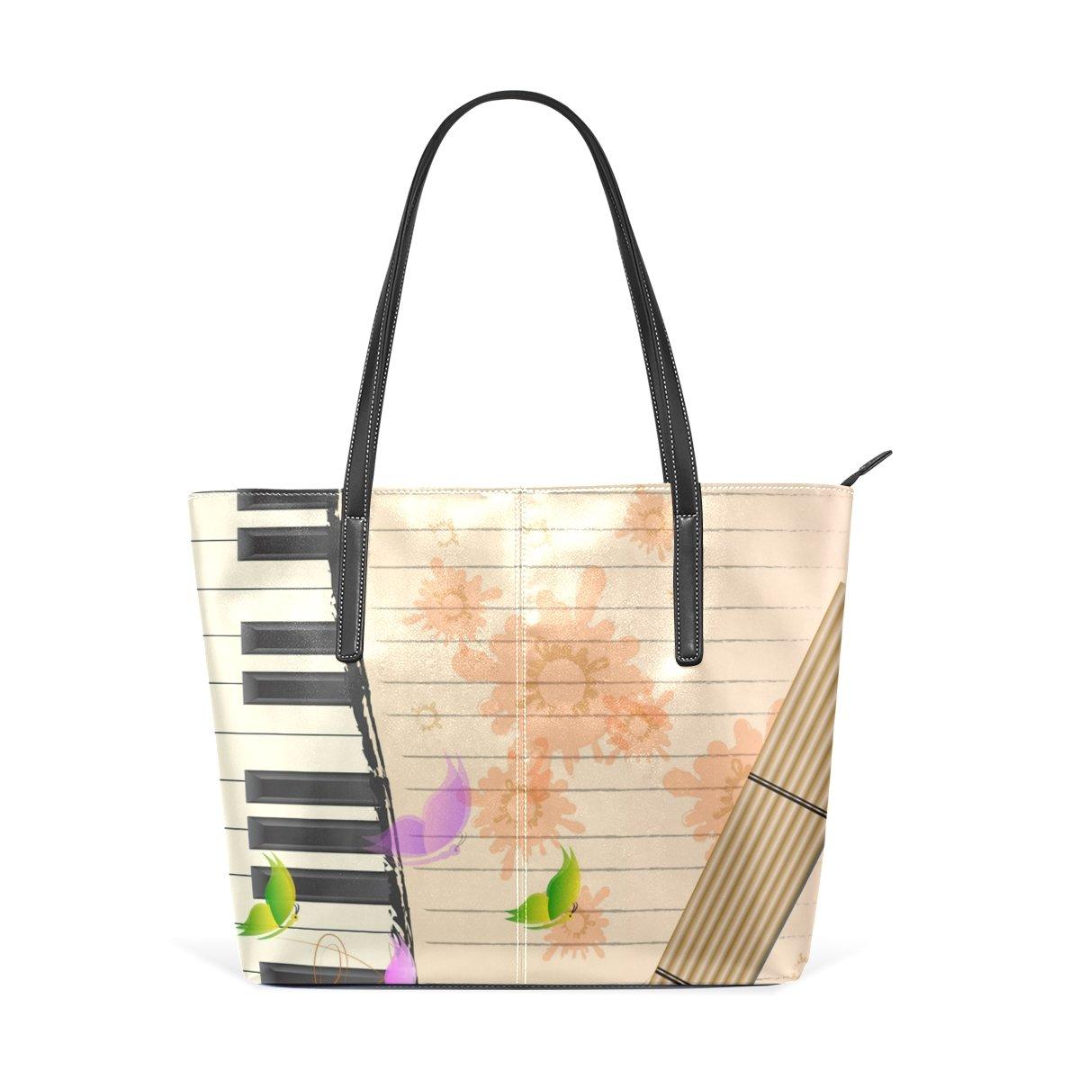 eac6622dcd9a DEYYA Women Large Tote Top Handle Shoulder Bags Music Notes ...