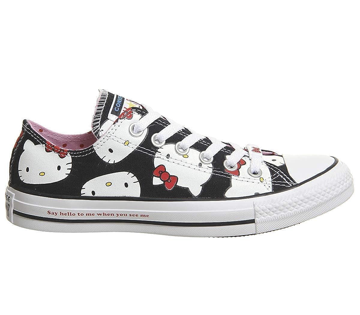 Converse Chuck Taylor All Star Lo Hello Kitty (10 Women / 8 Men B US, Black 9617)