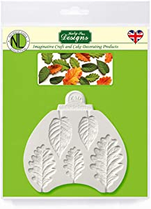 Blackberry & Oak Leaves Silicone Sugarpaste Icing Mold, Nicholas Lodge for Cake Decorating, Sugarcraft, Candies, Crafts, Cards and Clay, Food Safe