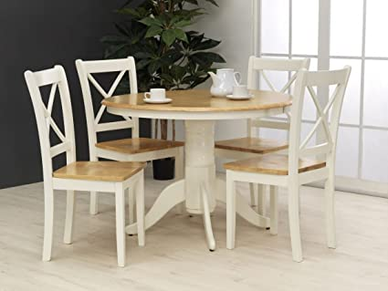 Calais Dining Table With 4 Chairs In Ivory Fame Amazon Co Uk Kitchen Home