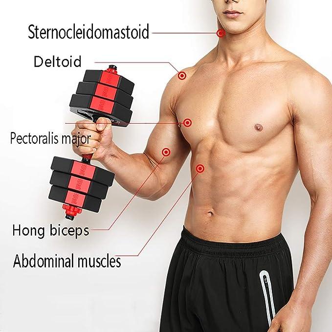 WSC Mancuernas, un par de Trajes de Peso Ajustables, musculares de ...