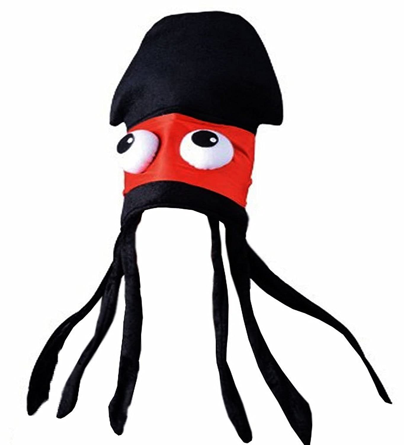 amazoncom squid hat squid costumes ninja squid hat novelty hats fish hats costume hat by funny party hats clothing