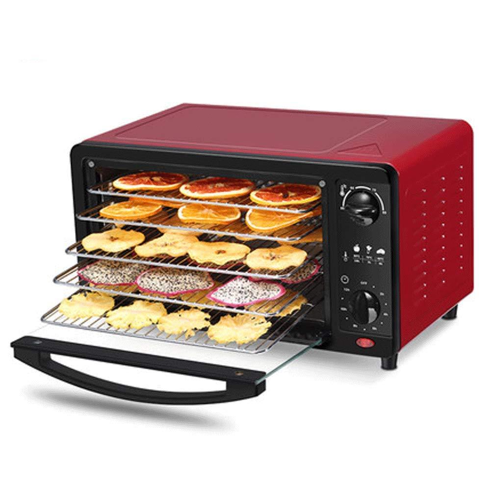 Essiccatore per frutta, disidratatore per alimenti in acciaio inox a 5 cassetti, impostazione dell'ora e regolazione della temperatura per 12 ore per la produzione di carne, frutta e verdura secca, re