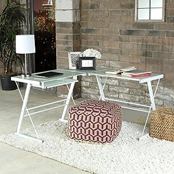 Amazon Com Walker Edison 3 Piece Contemporary Desk Multi