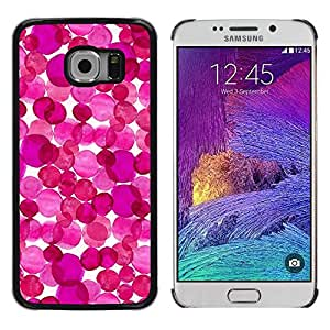 Paccase / SLIM PC / Aliminium Casa Carcasa Funda Case Cover para - Purple White Abstract Floral Art - Samsung Galaxy S6 EDGE SM-G925