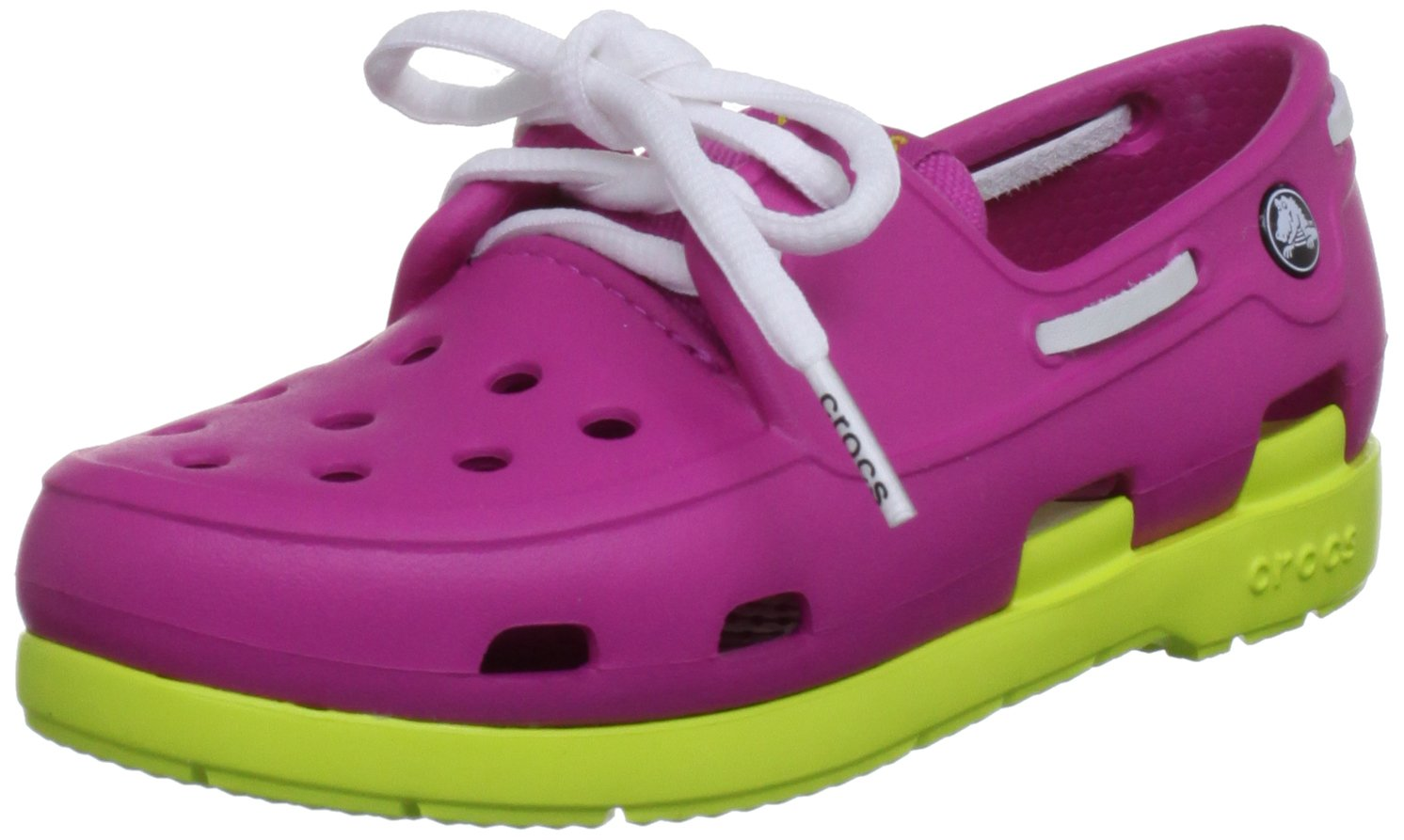 crocs 14404 Beach Line Shoe (Toddler/Little Kid),Fuchsia/Citrus,11 M US Little Kid