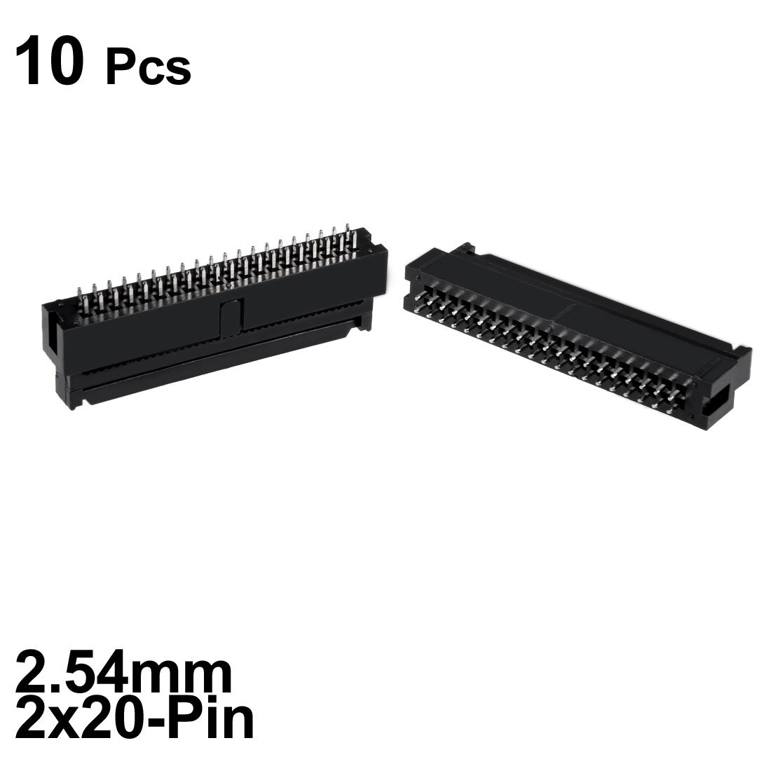 uxcell 10Pcs 2.54mm Pitch 2x20-Pin Double Row Straight Connector Female Pin Header Strip PCB Board Socket