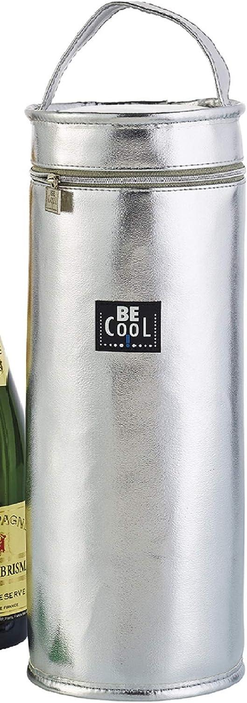 K/ühltasche Isoliertasche Silber 33cm hochwertig BE CooL City Picknickkorb foolonli f/ür Flaschen